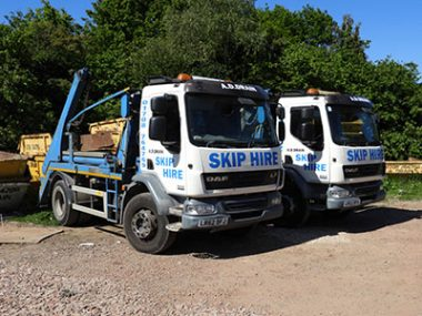 our skip hire truck