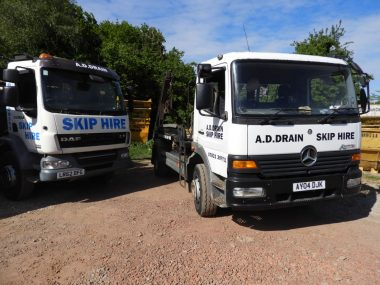 skip hire vehicle for commercial client
