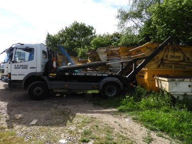 skip hire truck for domestic work
