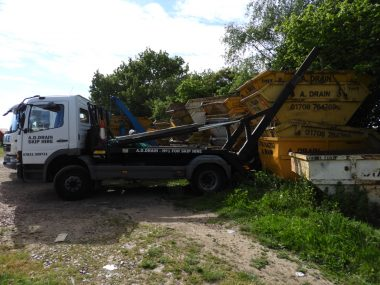 skip hire truck for commercial clients