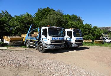 skip hire truck